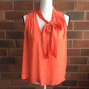 Free people touch the sky tank in coral size small